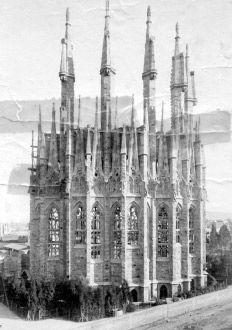 El ábside. 1893 Sagrada Familia, Barcelona