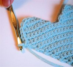 Crochet Heart ~ Free pattern or donate for a nice PDF to be sent. This turned out so cute! I just finished mine for a pocket I'm adding to an apron I'm making for a special order! Very cute!
