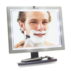 Shop a great selection of ToiletTree Products Deluxe LED Fogless Shower Mirror Squeegee, Ounce. Find new offer and Similar products for ToiletTree Products Deluxe LED Fogless Shower Mirror Squeegee, Ounce. Shower Mirror, Mirror With Led Lights, Cool Mirrors, Vanity Mirrors, Bathroom Mirrors, Small Bathroom, Bathroom Lighting, Bathrooms, Facial Cleansing Brush
