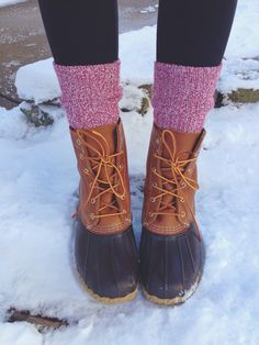Bean Boots and camp socks
