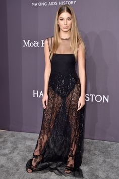 Model Cami Morrone attends the 19th Annual amfAR New York Gala at Cipriani Wall Street on February 8, 2017 in New York City.