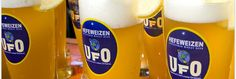 UFO Hefeweizen - Inspired by the cloudy beers drank in many German beer gardens, UFO Hefeweizen was first brewed in the fall of 1998.