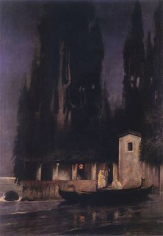 """Departure from the island at night"" by Henryk Siemiradzki, 1890"