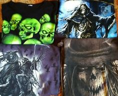 35f87153e53c Lot 4 Grim Reaper Scarecrow Skull Skeleton Horror T-Shirts Mens M  #DeltaAlstyle #