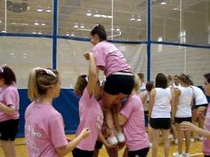 Practicing the Arabian stunt at camp, July Cheerleading Flexibility, Cheerleading Workouts, Cheerleading Photos, High School Cheerleading, Cheerleading Cheers, Cheer Coaches, Cheer Mom, Cheer Stuff, Team Cheer