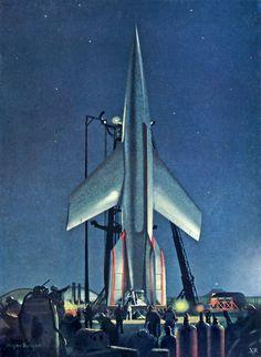1953 illustration by Chesley Bonestell.