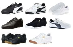 detailed look 9d94d ebff1 Puma Roma Black White Grey Navy Gum Sneakers Trainers Tennis Shoes  fashion   clothing