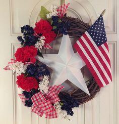 Patriotic wreath- Summer 2013