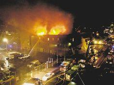 Three aerial fire trucks were used during the Mizpah10/31/2006