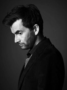 David #Tennant in black and white