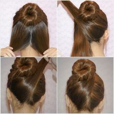 Being trendy with a regular bun hairstyle is a desire of all. A nice updo makes you beautiful can earns compliments for you. Don�t you think?  Shoulder length to long strands can be managed with a lovely and spectacular bun.Discover more: bun hairstyle fo