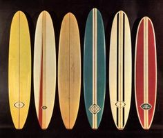 Vintage surfboards - for the coffee table.