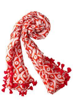 Stella & Dot Printed Geranium Floral Wrap Scarf | Capri Cotton Wrap