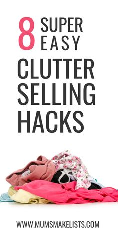 We share our top tips for making money from decluttering, the key is to be smart and sell different things in different ways, read how. Make Money Now, Earn Money From Home, Online Sales, Selling Online, Organisation Hacks, Organization, Sell Your Stuff, Things To Sell, Organize Your Life