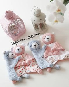 Easy Crochet Patterns, Amigurumi, Baby lovey toys by AVokhminaPatterns Crochet Toys, Knit Crochet, Easy Crochet Patterns, Knitting Ideas, Comforters, Teddy Bear, Warm, Pillows, Trending Outfits