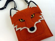 iPad mini felt case Fox in rusty felt by BoutiqueID on Etsy, $58.00: