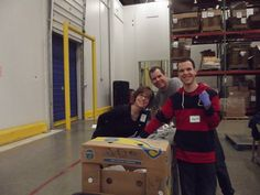 Library staff, trustees, and family members volunteered at the Northern Illinois Food Bank in January 2015.