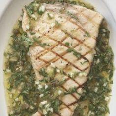 Swordfish with salsa verde from @Rocco DiSpirito http://aol.it/15sr8L7