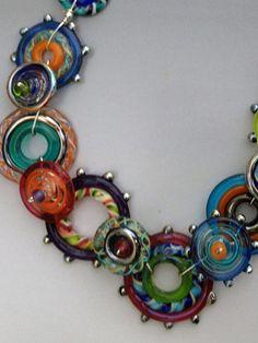 Glas Halskette Spirograph Sammlung: handgemachte Glas