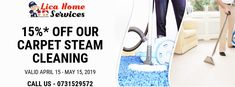 #Carpet_steam_cleaning_services available at 15%* discounted price. Call now -- 0731529572