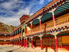 Coming back to best monasteries in India: The Hemis Monastery,  located in Hemis, Ladakh is a sight in itself to behold.   It lies at a distance of 44 km away from the beautiful valley of Leh.  #India #HemisMonastery #Hemis #LehLadakh #Leh #NorthIndia #monasteriesofindia #buddhist #travel #trip #tour #yolo #usa #UCLA