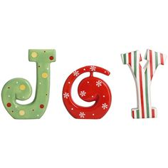 Transpac Imports Christmas Cheer 'Joy' Block Sign (20 CAD) ❤ liked on Polyvore featuring home, home decor, christmas signs and christmas home decor