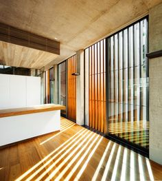 Exterior vertical wooden louvers-- applied this idea in one of our projects in the Philippines