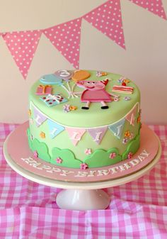 Pastel Pig Birthday Cake, from Butter Hearts Sugar.