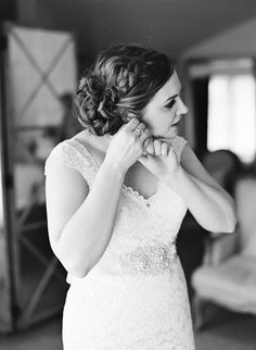 Bridal Hair + Makeup by First Look Artistry Wedding Photography by Jen Fariello  Messy / Updo / Makeup / Bridal / Romantic / Rustic / Wedding / Veil / Low Updo / Bride to Be / Wedding Flowers / Vineyard Wedding / Wedding Inspiration / Kenra Professional / Natural Makeup / Virginia Weddings / Easy Updo / Curly Hair / Braid / Braided Updo