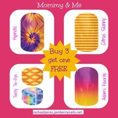 Twisty Tie-Dye Mommy & Me Jamberry Nails. Buy 3 sheets get one FREE!!! rachaelperez.jamberrynails.net