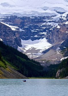 Amtrak Empire Builder Traveling Through Glacier National
