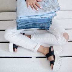 Reconsidered white trousers