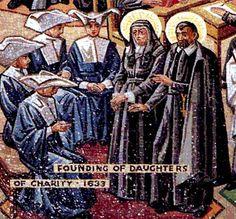 daughters of charity of st vincent de paul motherhouse in paris   Mosaics of St. Vincent's Life