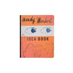 Andy Warhol Idea Book ($19) ❤ liked on Polyvore featuring fillers, books, orange, accessories, backgrounds, desk and magazine