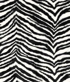 Medium Zebra Velboa Faux Fur Fabric - $7.2 | onlinefabricstore.net