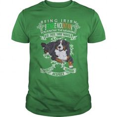 Bernese Mountain Saint Patricks Day Being Irish Bernese Mountain Dog