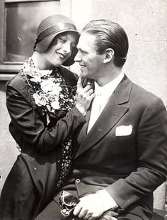 Joan Crawford and Douglas Fairbanks Jr. 1920's