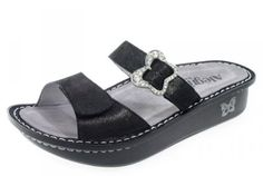 Alegria Mariposa Womens Leather SandalsSoft Black40 M EU 10 M US >>> You can get additional details at the image link.