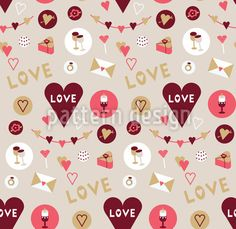 Show Your Love Seamless Vector Pattern Vector Pattern, Pattern Design, Love Confessions, Love Letters, Surface Design, Valentines Day, Romantic, Lettering, Patterns