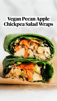 Salat Wraps, Caesar Salat, Cobb, Tahini Dressing, Peanut Dressing, Chickpea Salad, Great Recipes, Dinner Recipes, Vegan Recipes