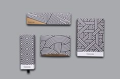Monotone Patterns with Gold Accents. Works wonders on these pastry packaging Yo… - corporate branding identity Cool Packaging, Tea Packaging, Brand Packaging, Product Packaging, Bakery Branding, Restaurant Identity, Id Card Design, Business Card Design, Identity Design