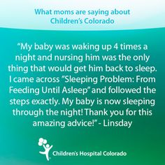 Learn more about when babies should be fed at night depending on their age from the experts at the Sleep Program at Children's Hospital Colorado. #babies #parenting #nightfeeding #infant #motherhood #breastfeeding