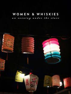 a lantern lit soirée with women & whiskies / sfgirlbybay