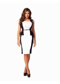 Towie's Jessica Wright black and white peplum dress £60