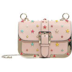 REDValentino Stars Shoulder Bag ($750) ❤ liked on Polyvore featuring bags, handbags, shoulder bags, light pink, pink handbags, colorful handbags, studded handbags, light pink handbags and multi colored handbags
