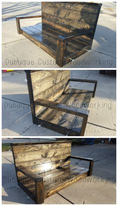 Patio Swing 2016 Patio Swing, Custom Woodworking, Pallet Projects, Table, Furniture, Home Decor, Decoration Home, Room Decor, Pallet Wood