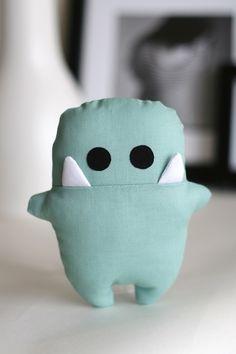 """rattle toy """"Siggi"""" Rassel-Siggi / jadegrün - ein Designerstück von enFant design / DaWanda"""