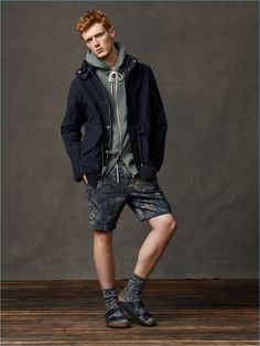 Abercrombie & Fitch brings together effortless layers as Linus Wordemann models its latest styles.