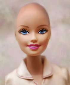 Bald Barbie for cancer patients...  …[N]ext year [Mattel] will be producing a fashion doll, that will be a friend of Barbie, which will include wigs, hats, scarves and other fashion accessories to provide girls with a traditional fashion play experience. For those girls who choose, the wigs and head coverings can be interchanged or completely removed.