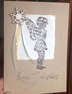 Weihnachtskarte, Alexandra Renke, Stempel Engel